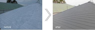事例2:屋根塗装