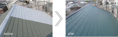 事例3:屋根塗装